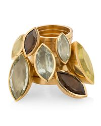 Ilene Steele Jewellery - Medium Marina Ring Green Amethyst - Lyst