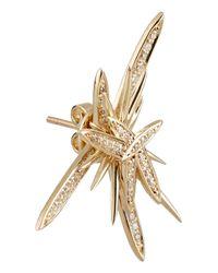 Lynn Ban Metallic Atomic 14-Karat Gold Diamond Earrings