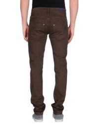 Dondup - Brown Denim Trousers for Men - Lyst