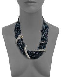 Alexis Bittar - Blue Elements Dark Alchemy Crystal Serpent Torsade Bib Necklace - Lyst