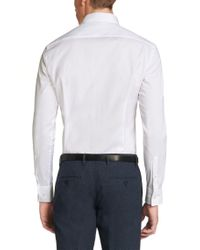 BOSS White Slim-fit Travel Line Shirt In Breathable Cotton: 'jacob' for men