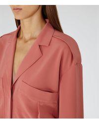 Reiss - Pink Arizona Shirt Dress - Lyst