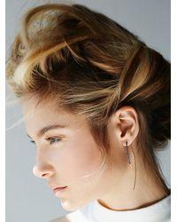 Free People Metallic By Boe Womens Wrapped Hook Earring