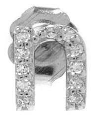 KC Designs | Metallic White Gold Diamond N Single Stud Earring | Lyst