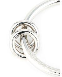 MM6 by Maison Martin Margiela   Metallic Ring Detail Bangle   Lyst