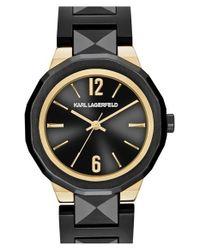 Karl Lagerfeld - Black 'joleigh' Bracelet Watch - Lyst