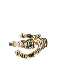 ASOS - Metallic Articulated Panther Bracelet - Lyst