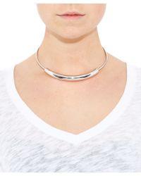Jennifer Fisher | Metallic Large Silver-plated Cylinder Choker | Lyst