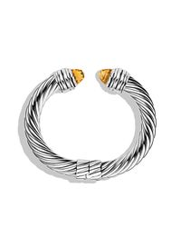 David Yurman | Metallic Cable Classics Bracelet With Citrine | Lyst