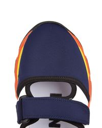 Marni Blue Neoprene Color-Blocked Sneakers