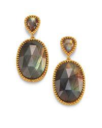 Mija | Metallic Labradorite Oval Drop Earrings | Lyst
