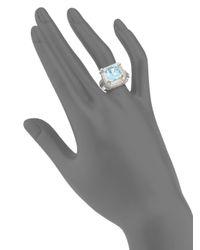 Slane - Metallic Voltaire Blue Topaz & Sterling Silver Ring - Lyst