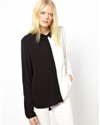 Just Female | Black Block Shirt | Lyst