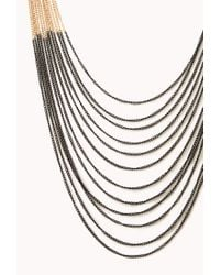 Forever 21 - Metallic Colorblocked Chain Necklace - Lyst