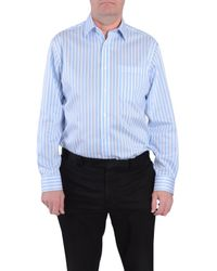 Double Two - Blue Stripe Classic Fit Classic Collar Formal Shirt for Men - Lyst