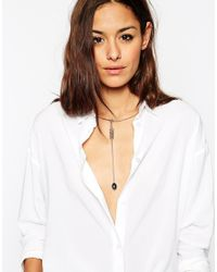 ASOS - Black Choker Wrapped Bead Necklace - Lyst