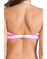 Juicy Couture | Pink Boho Stripe Bandeau Top | Lyst