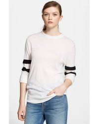 T By Alexander Wang | White Merino Wool Sweater | Lyst