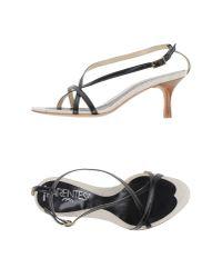 Parentesi - Black Sandals - Lyst