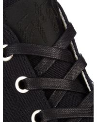 Eytys Black Odyssey Canvas High-Top Sneakers