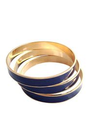 Tuleste | Blue White Channel Bangles | Lyst