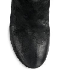 Marsèll - Black Suede Wedge Ankle Boots - Lyst