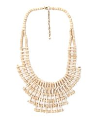 Forever 21 | Natural Clear Cut Beaded Bib Necklace | Lyst