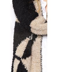 By Malene Birger - Knit Work Of Art Asunho Scarf Blackcream - Lyst