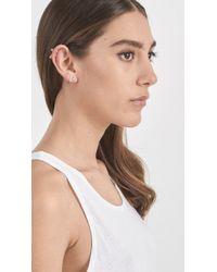 Wwake - Metallic Tri Opal Earrings - Lyst