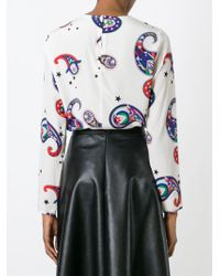 MSGM - Multicolor Fringed Blouse - Lyst