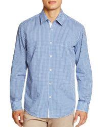 BOSS | Blue Boss Obert Check Regular Fit Button Down Shirt for Men | Lyst