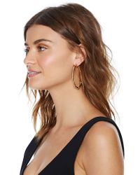 Nasty Gal Metallic Caught Up Hoop Earrings