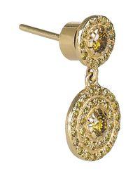 Ileana Makri - Metallic Diamond Art Deco Style Earrings - Lyst