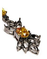 Iosselliani - Gray Cutwork Frame Zircon Drop Earrings - Lyst