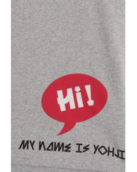 Y-3 - Gray Crew Neck T W Print At Bottom for Men - Lyst