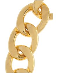 Kenneth Jay Lane Metallic Gold-Plated Chain-Link Necklace