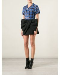 Marc By Marc Jacobs Black Giant Bow Skirt