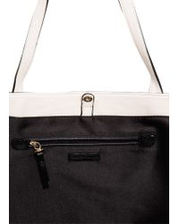 Mango - White Pebbled Shopper Bag - Lyst
