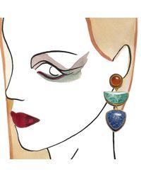 Lizzie Fortunato - Blue Beldi Earrings - Lyst
