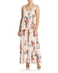 Raga - Multicolor Feeling Floral Empire Maxi Dress - Lyst