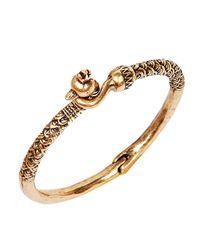Lucky Brand   Metallic Goldtone Peacock Hinge Bracelet   Lyst