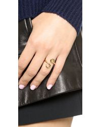 Giles & Brother | Metallic Hook Bypass Ring - Gold | Lyst