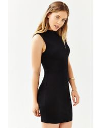 Silence + Noise - Black Seamed Bodycon Tank Dress - Lyst