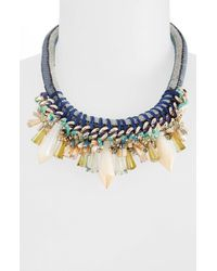 TOPSHOP | Black Sparkly Statement Necklace | Lyst