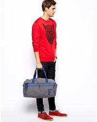 French Connection - Blue Fcuk Jersey Barrel Bag for Men - Lyst