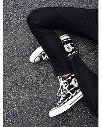 Free People   White Archive Print Hi Tops   Lyst