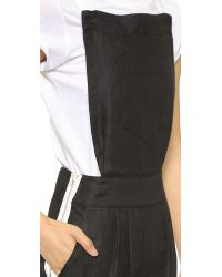 Band of Outsiders Colorblock Overalls - Black