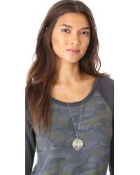 House of Harlow 1960 - Metallic Medallion Locket Necklace Silver - Lyst