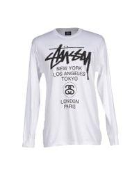 Stussy | White T-shirt for Men | Lyst