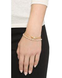 Astley Clarke - Metallic Star Prismic Bracelet Set - Moonstone/labradorite/gold - Lyst